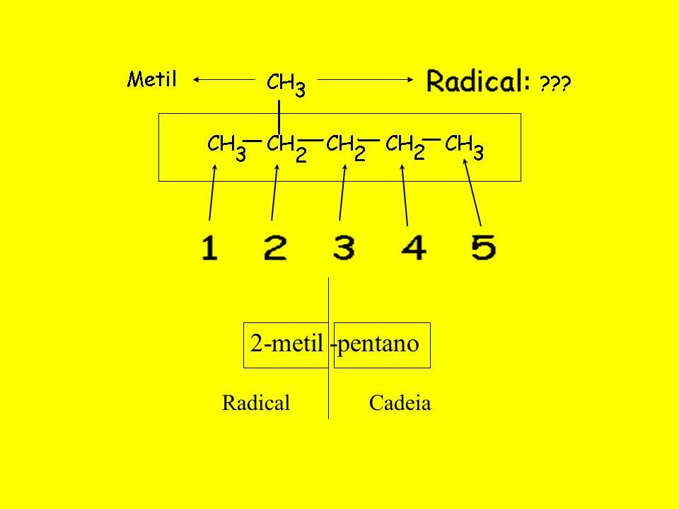 2-metil -pentano Radical Cadeia