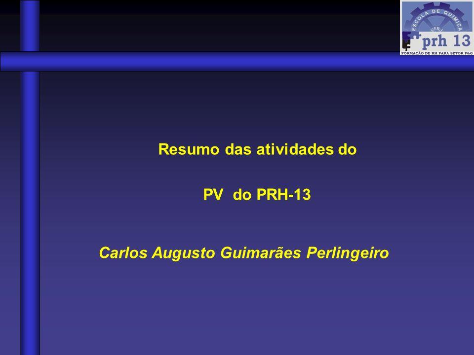 Resumo das atividades do Carlos Augusto Guimarães Perlingeiro