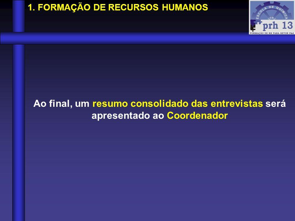 1. FORMAÇÃO DE RECURSOS HUMANOS