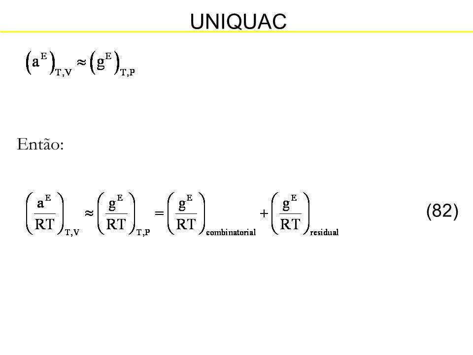 UNIQUAC Então: (82)