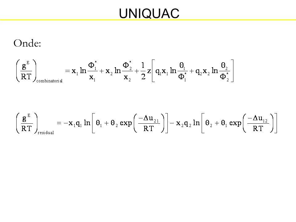 UNIQUAC Onde:
