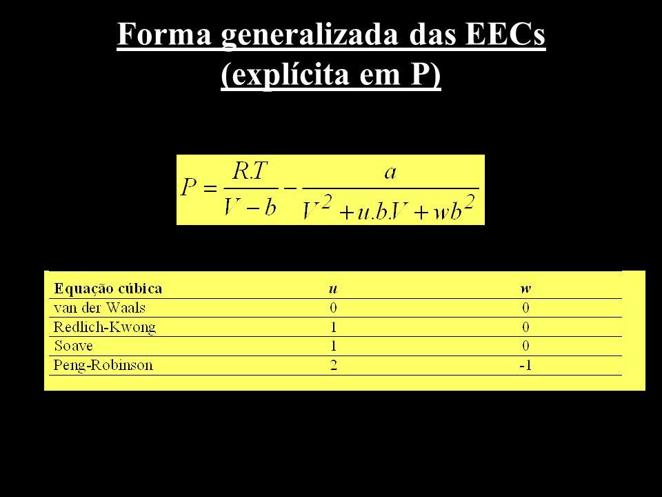 Forma generalizada das EECs (explícita em P)