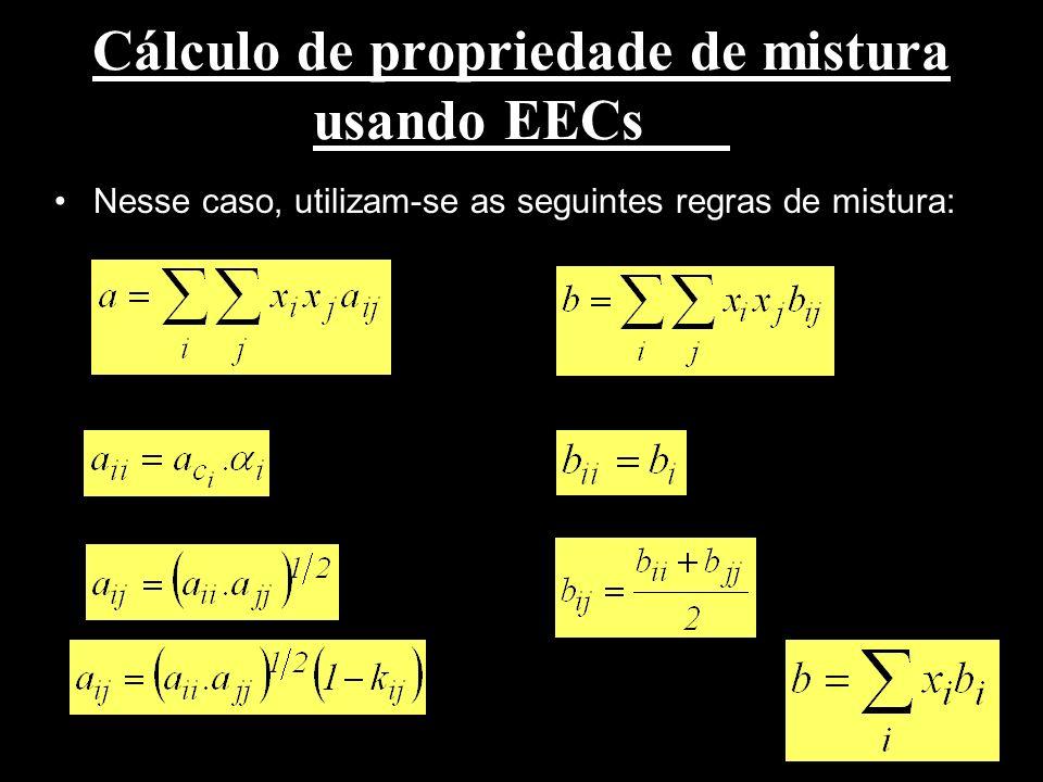 Cálculo de propriedade de mistura usando EECs