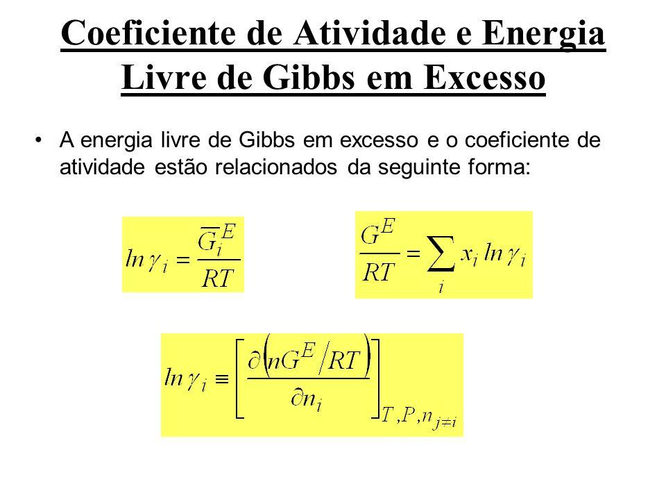 Coeficiente de Atividade e Energia Livre de Gibbs em Excesso