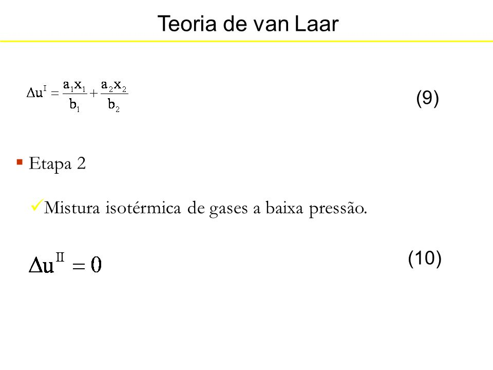 Teoria de van Laar (9) Etapa 2