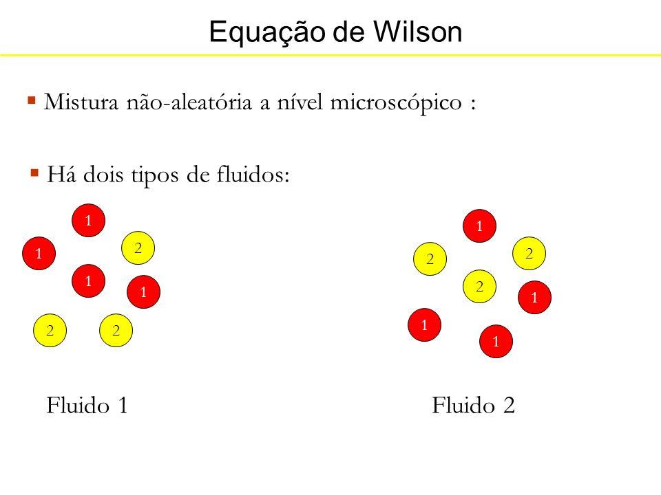 Equação de Wilson Mistura não-aleatória a nível microscópico :