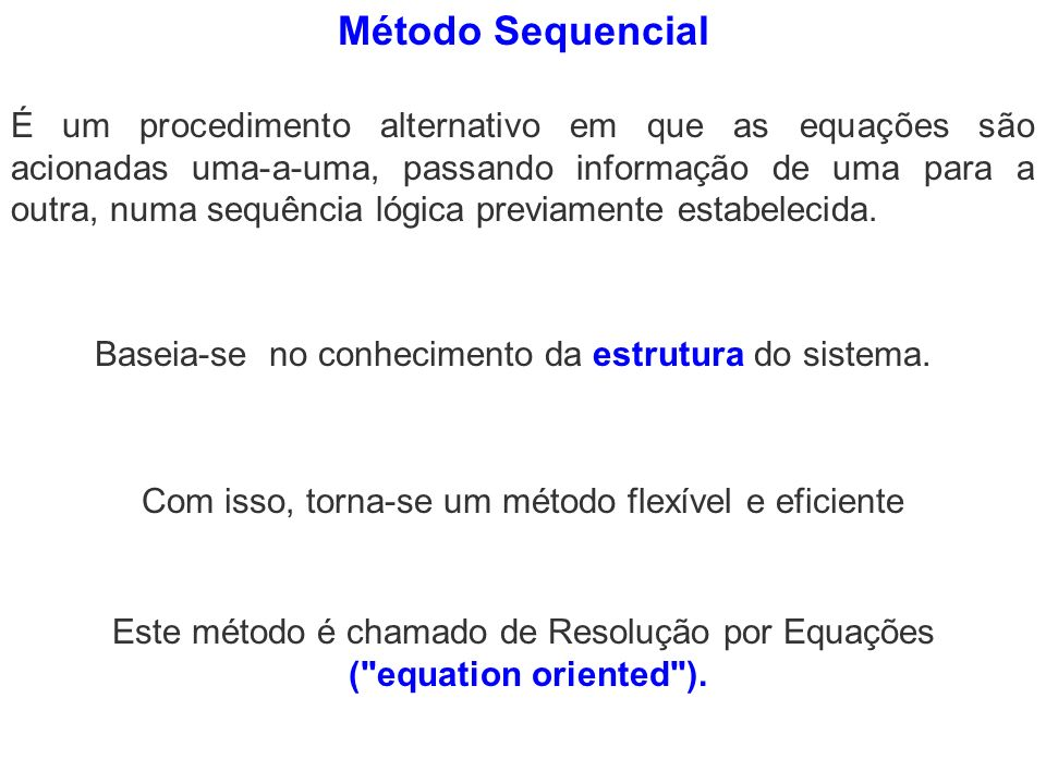 Método Sequencial