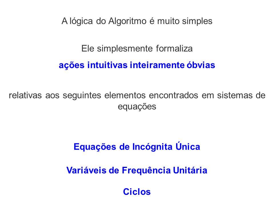 A lógica do Algoritmo é muito simples