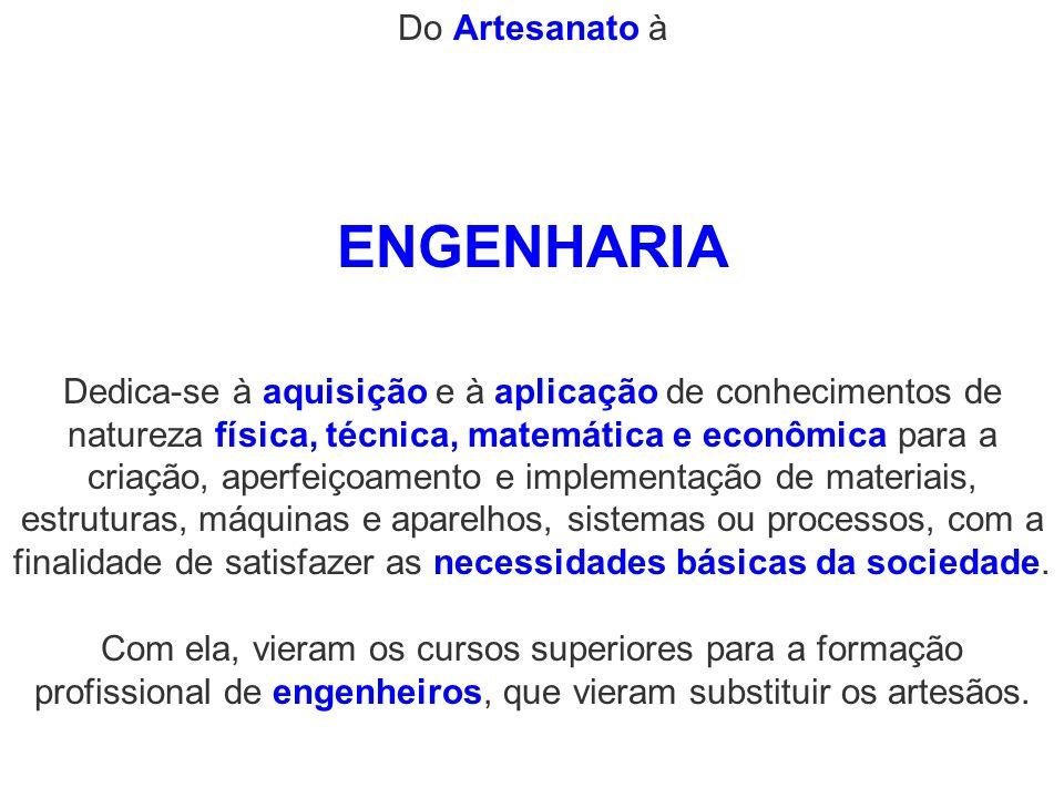 ENGENHARIA Do Artesanato à