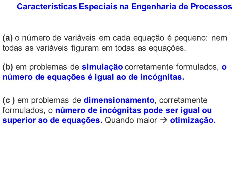 Características Especiais na Engenharia de Processos