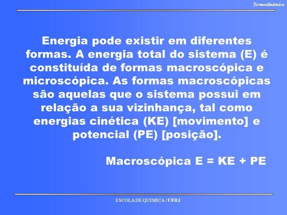 Energia pode existir em diferentes formas