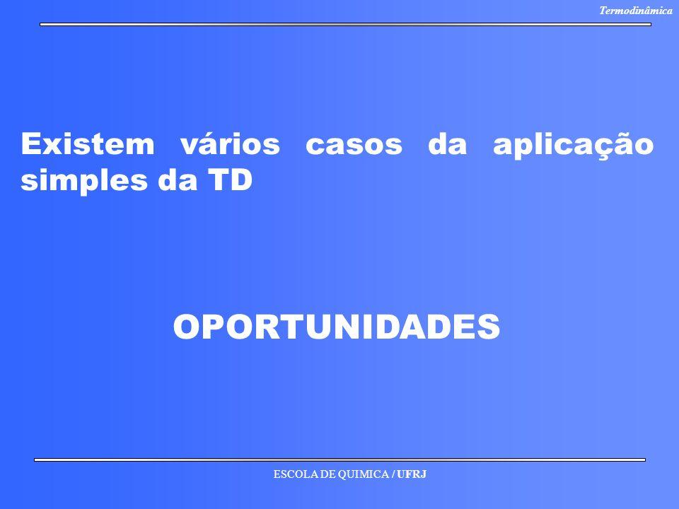 Existem vários casos da aplicação simples da TD