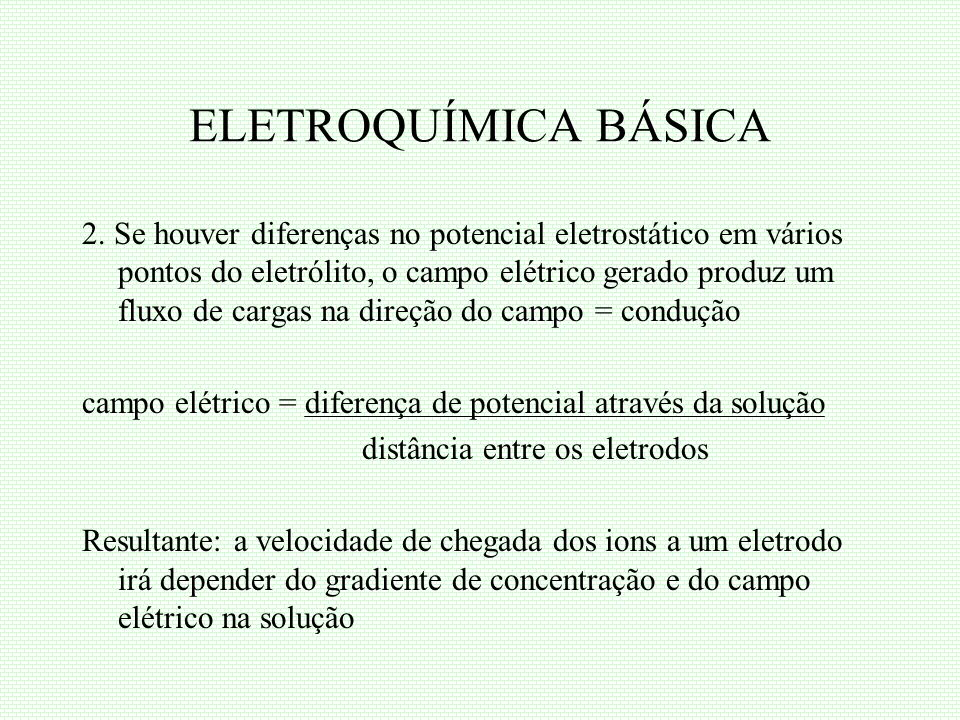 ELETROQUÍMICA BÁSICA