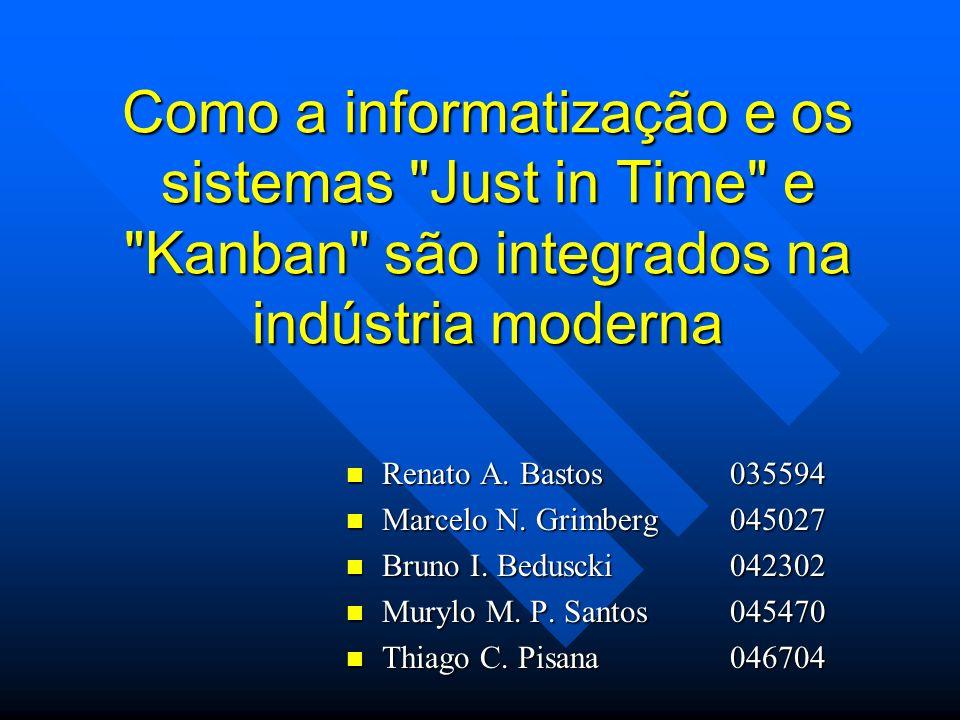 Como a informatização e os sistemas Just in Time e Kanban são integrados na indústria moderna
