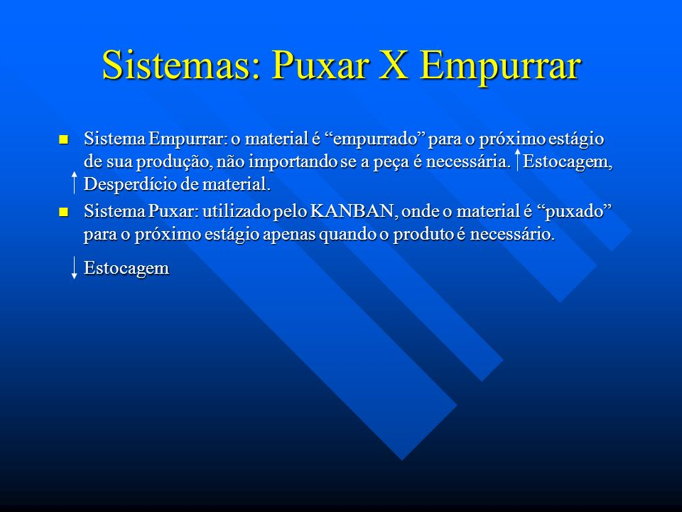 Sistemas: Puxar X Empurrar