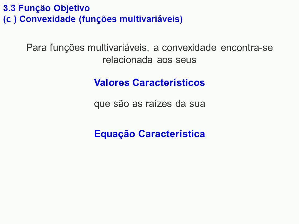 Valores Característicos Equação Característica