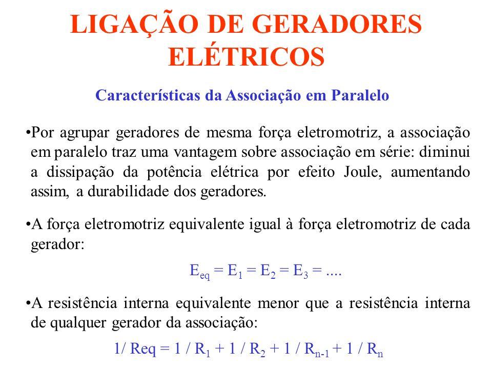 LIGAÇÃO DE GERADORES ELÉTRICOS