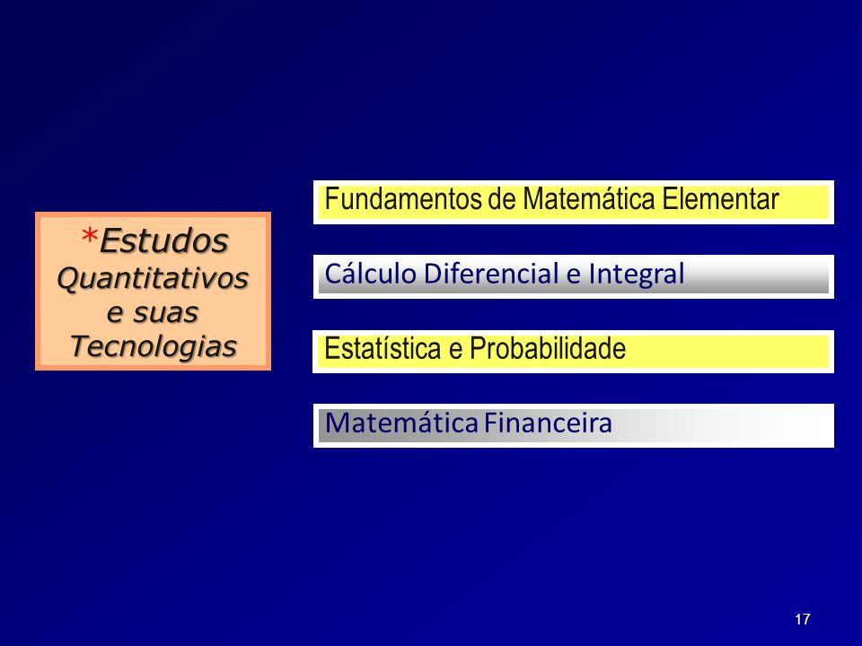 Quantitativos e suas Tecnologias
