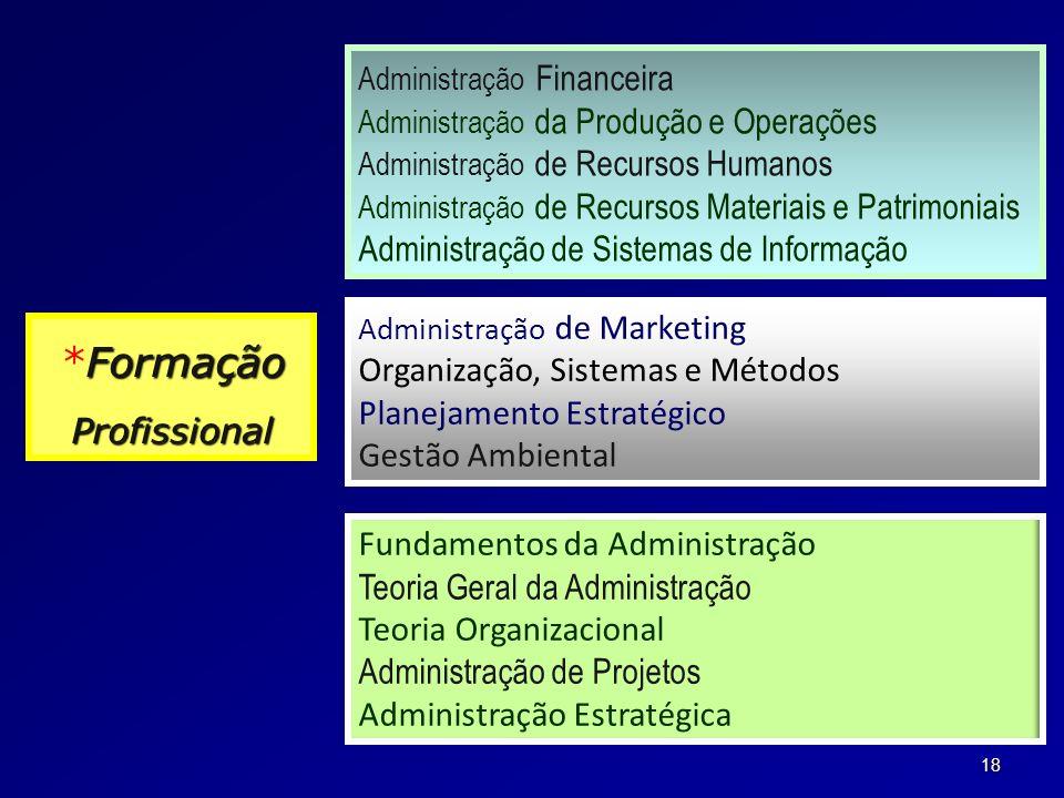 *Formação Administração de Sistemas de Informação