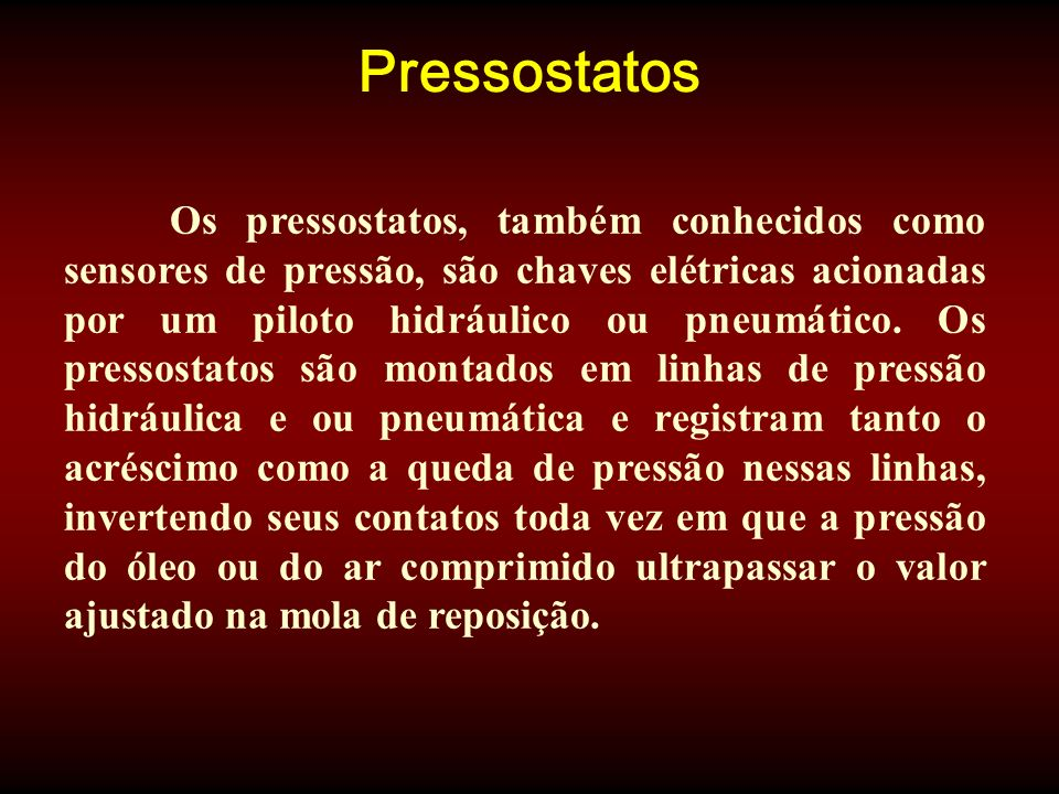 Pressostatos