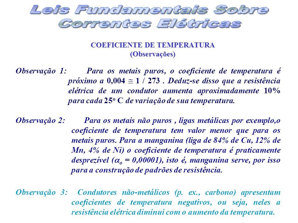COEFICIENTE DE TEMPERATURA (Observações)