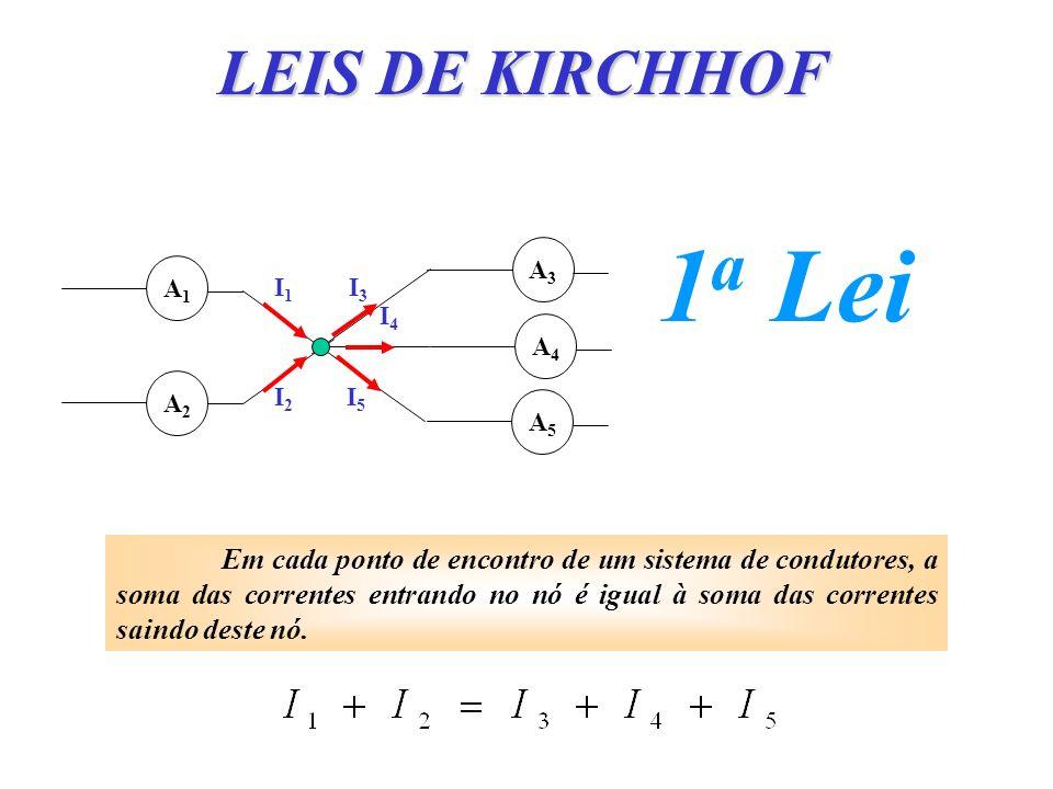 LEIS DE KIRCHHOF 1a Lei. A1. A2. A3. A4. A5. I1. I2. I3. I4. I5.
