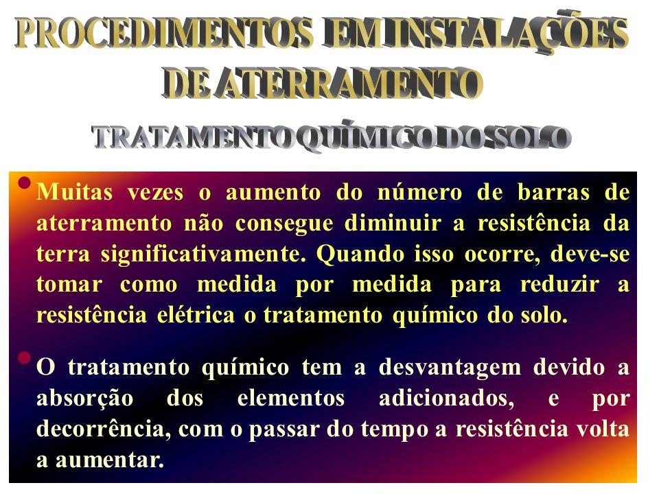 PROCEDIMENTOS EM INSTALAÇÕES TRATAMENTO QUÍMICO DO SOLO