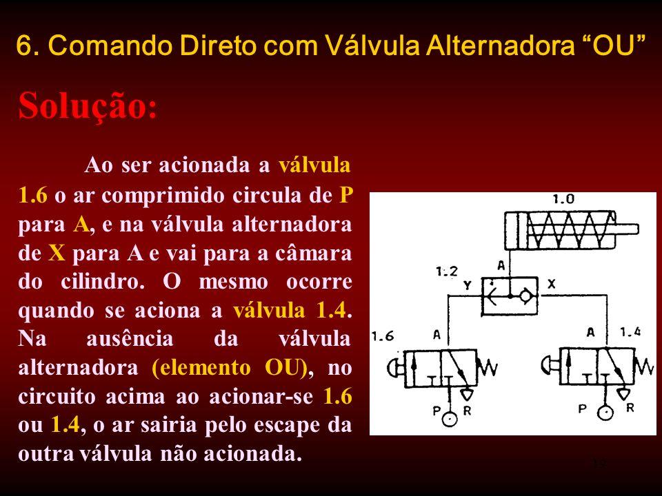 6. Comando Direto com Válvula Alternadora OU