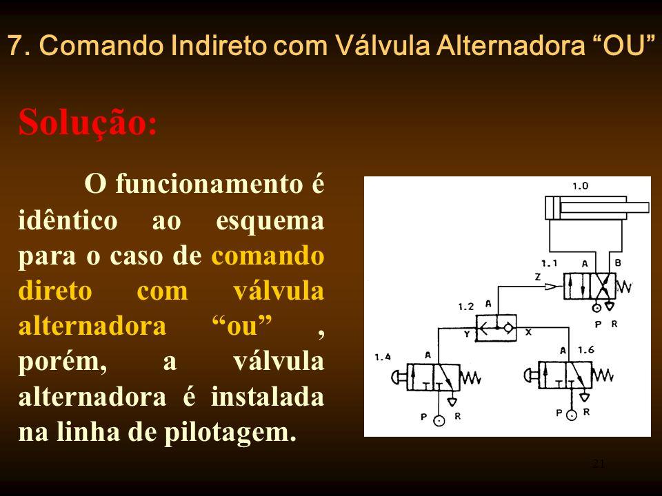 7. Comando Indireto com Válvula Alternadora OU