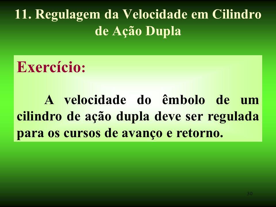 11. Regulagem da Velocidade em Cilindro de Ação Dupla