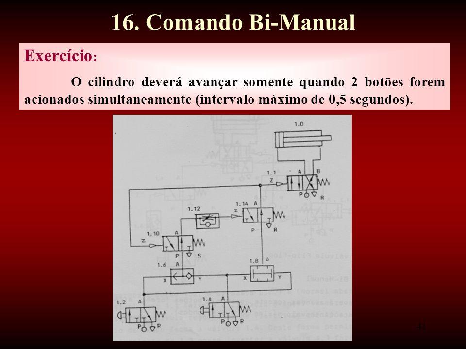 16. Comando Bi-Manual Exercício: