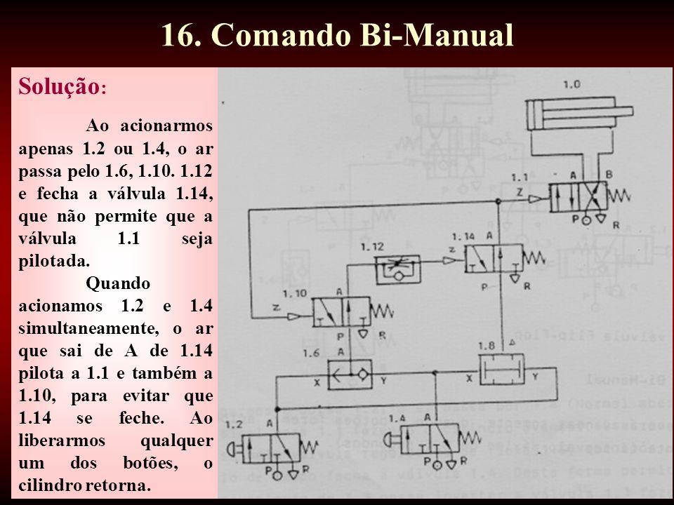 16. Comando Bi-Manual Solução: