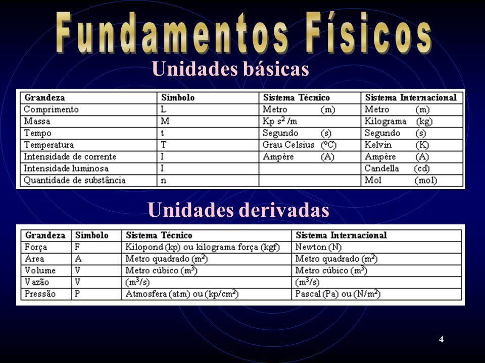 Fundamentos Físicos Unidades básicas Unidades derivadas