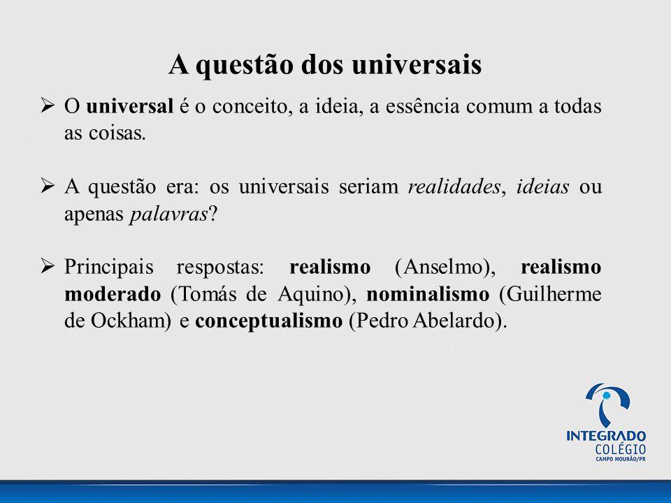 A questão dos universais