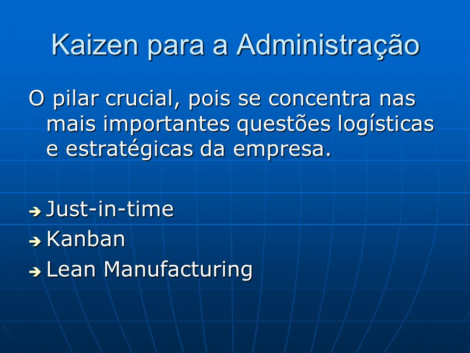 Kaizen para a Administração