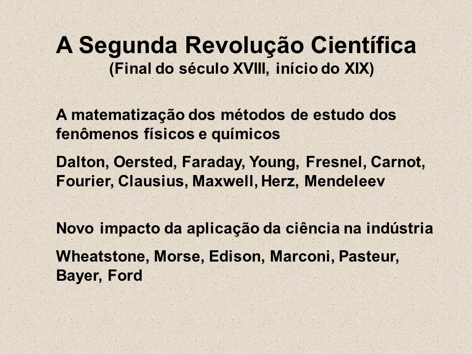 (Final do século XVIII, início do XIX)