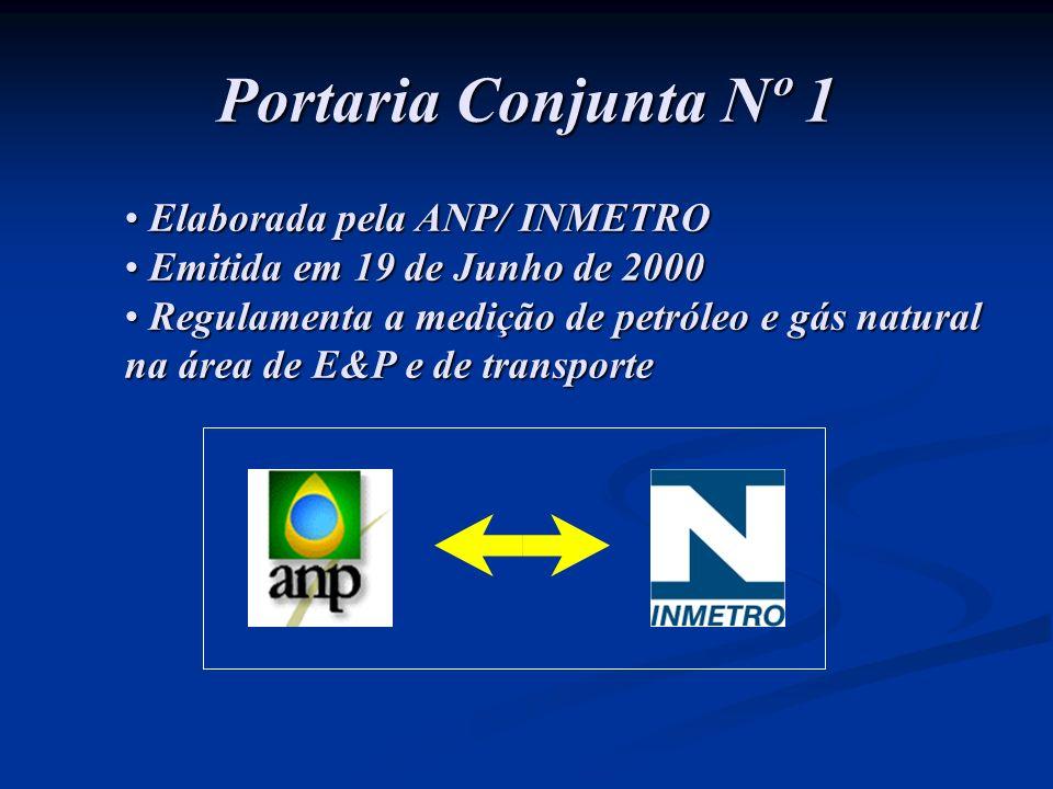 Portaria Conjunta Nº 1 Elaborada pela ANP/ INMETRO
