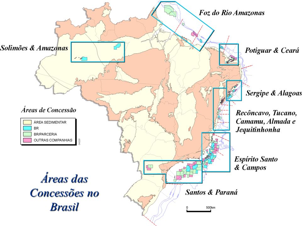 Áreas das Concessões no Brasil
