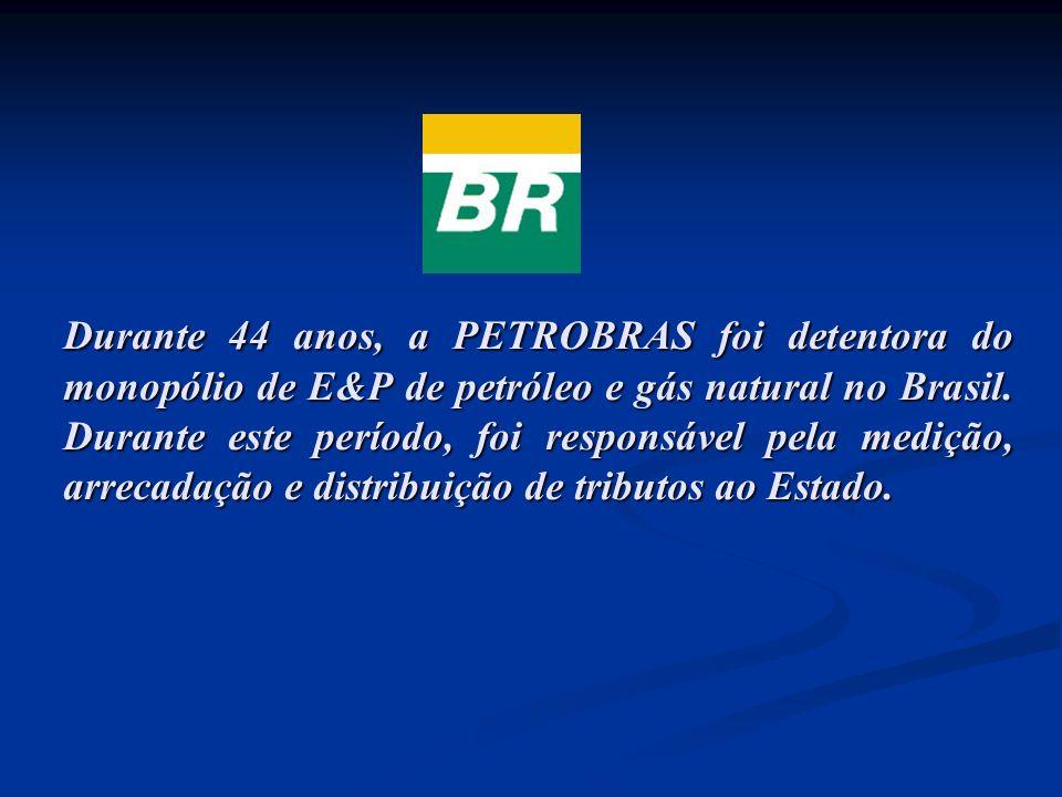 Durante 44 anos, a PETROBRAS foi detentora do monopólio de E&P de petróleo e gás natural no Brasil.