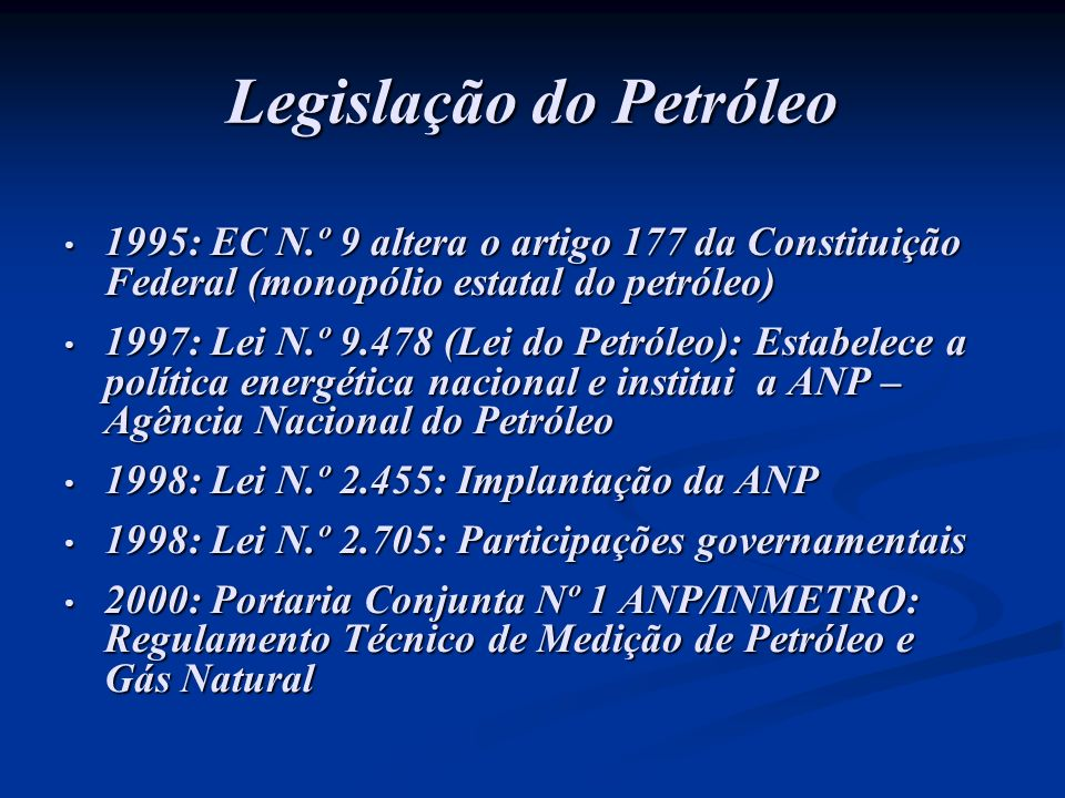 Legislação do Petróleo