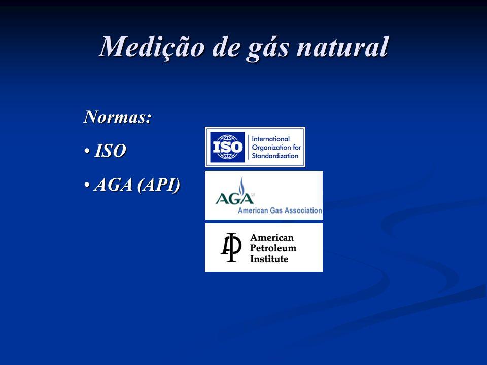 Medição de gás natural Normas: ISO AGA (API)