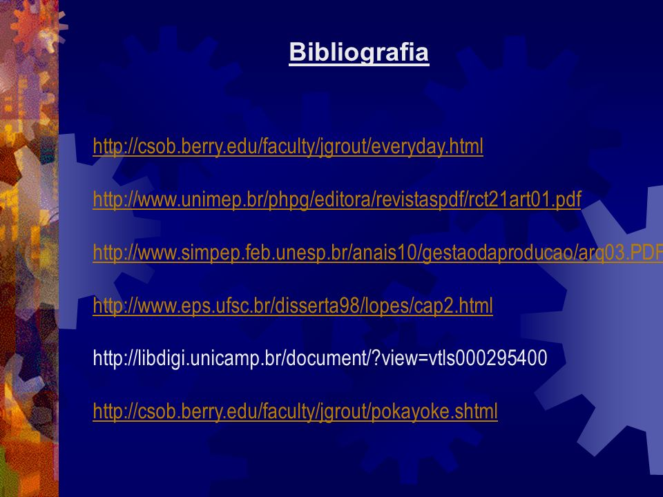 Bibliografia http://csob.berry.edu/faculty/jgrout/everyday.html