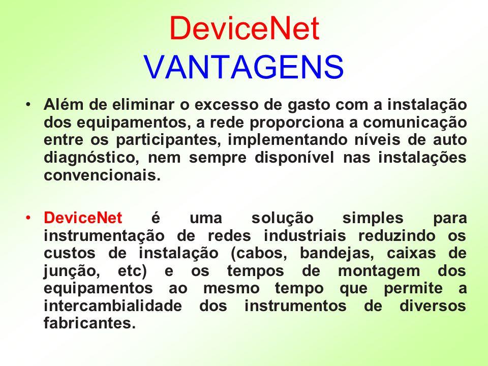 DeviceNet VANTAGENS