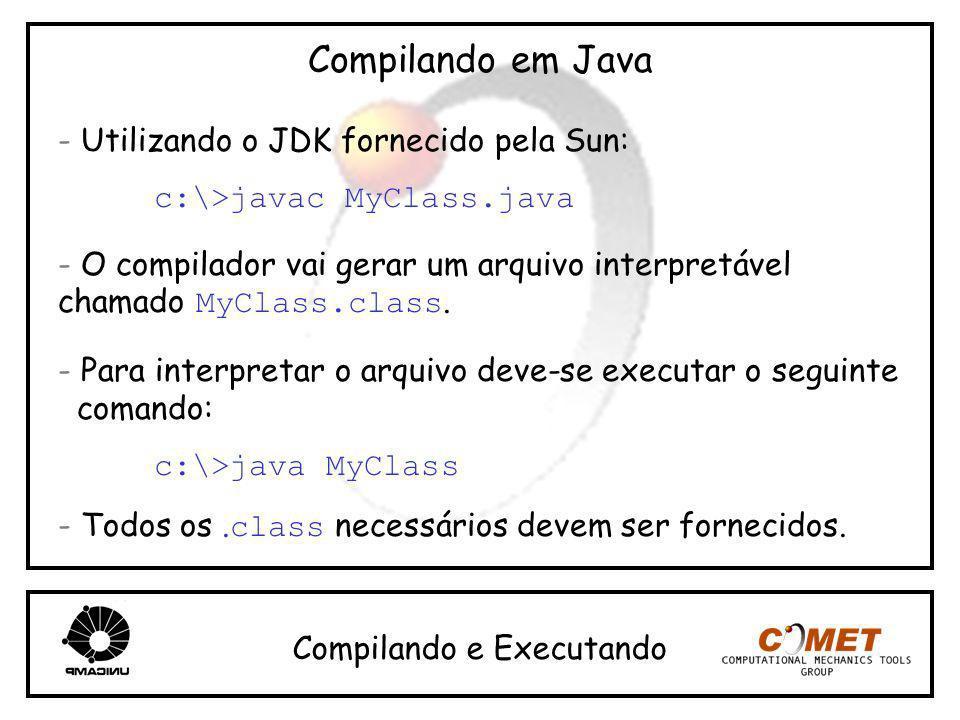Compilando em Java - Utilizando o JDK fornecido pela Sun: