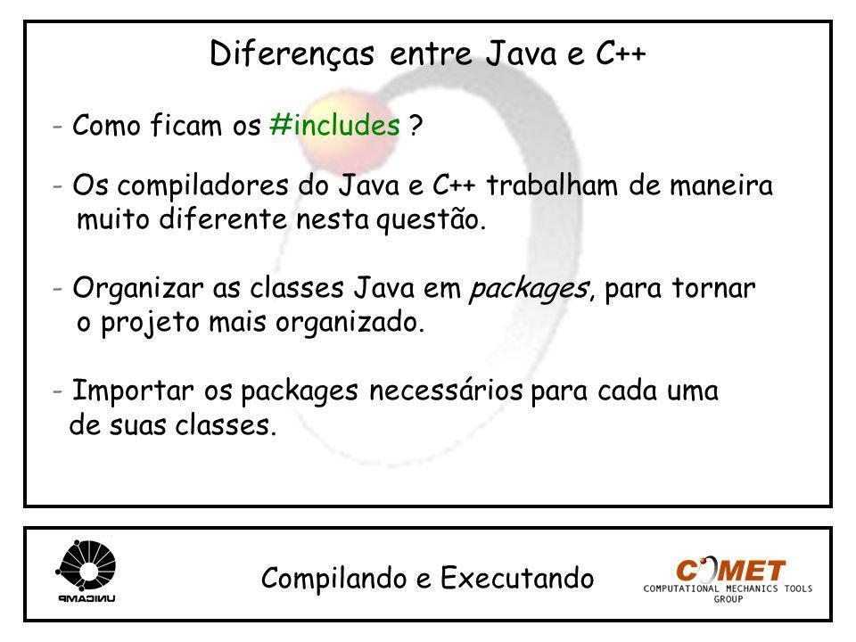 Diferenças entre Java e C++