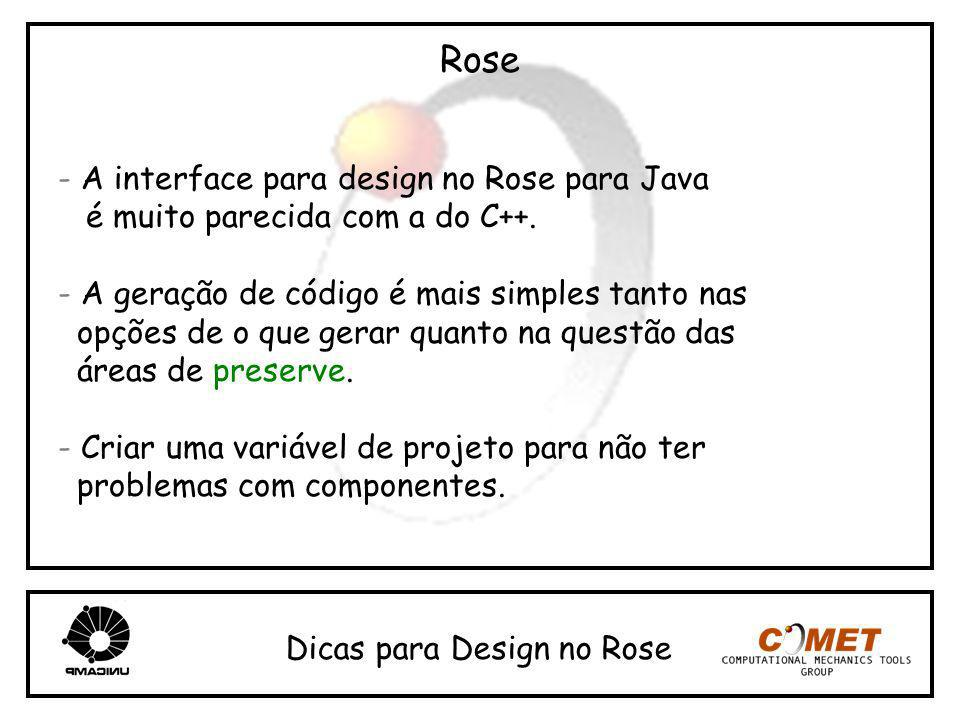 Rose - A interface para design no Rose para Java