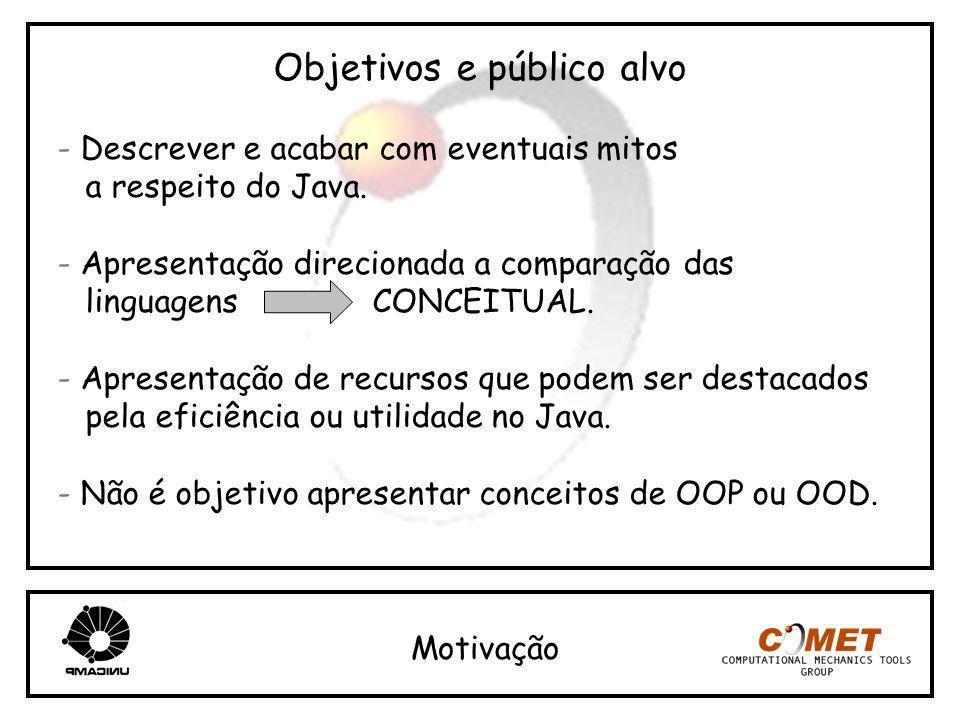 Objetivos e público alvo