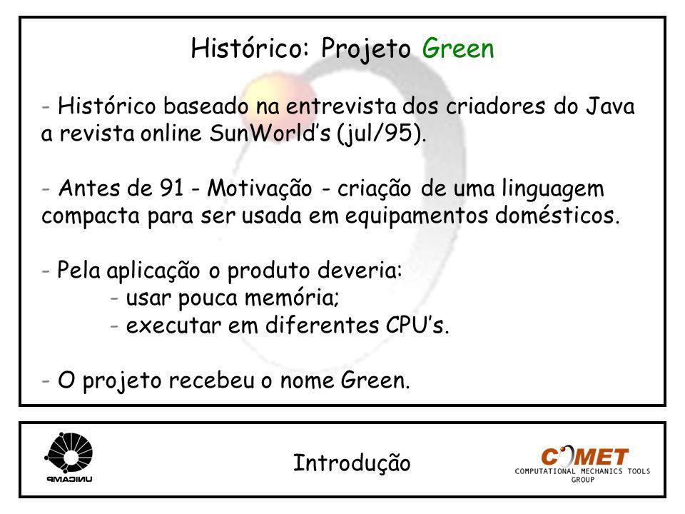 Histórico: Projeto Green