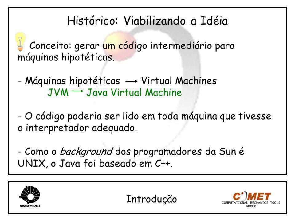 Histórico: Viabilizando a Idéia