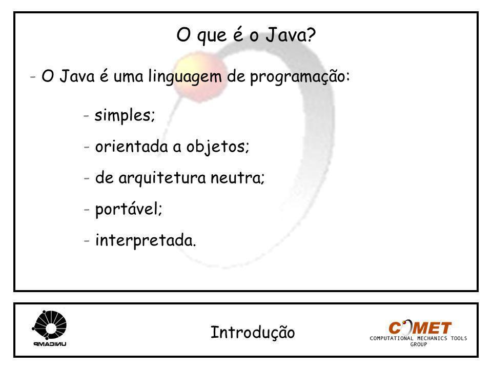 O que é o Java - O Java é uma linguagem de programação: